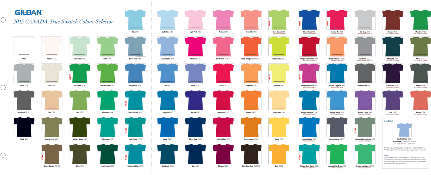 swatch book to compare garment colours below in pdf format as well